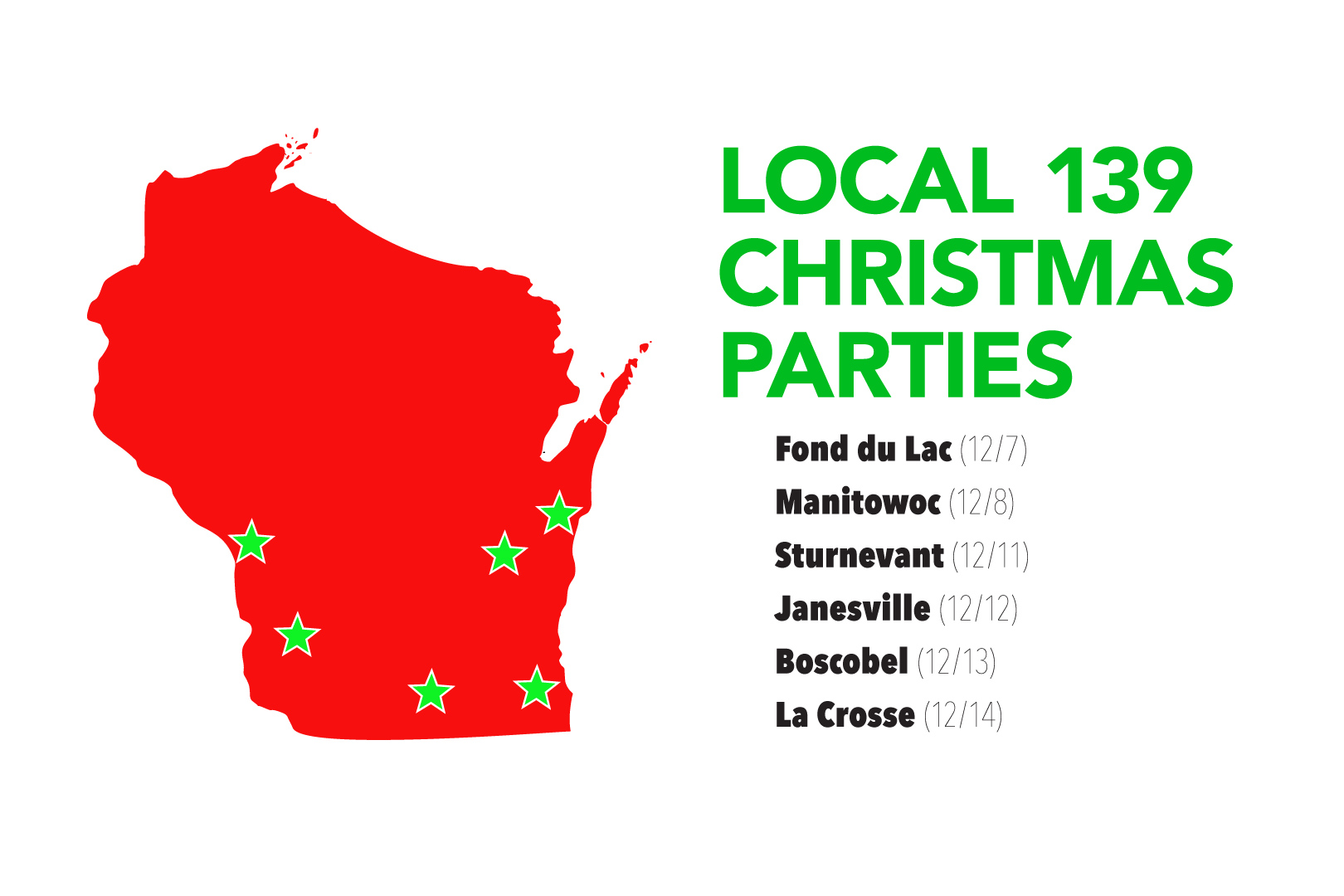 Join us at the upcoming 139 Christmas meetings. Check the online calendar to find the meetings in your area. Tonight: The Fond du Lac meeting!