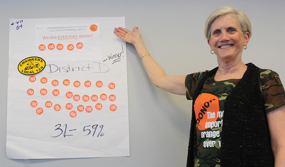 Mary Nachreiner showing 32 Operators registered for organ donation