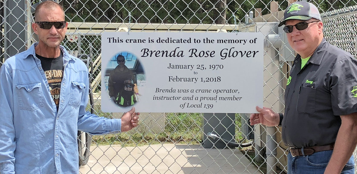 Crane Dedicated In Memory Of Brenda Glover