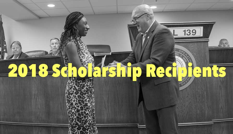 2018 Scholarship Recipients