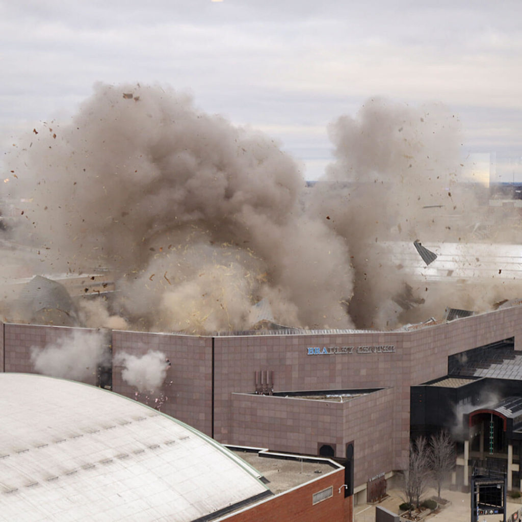 Bradley Center Roof Implosion