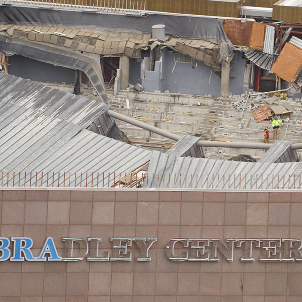 After the Bradley Center Roof Implosion