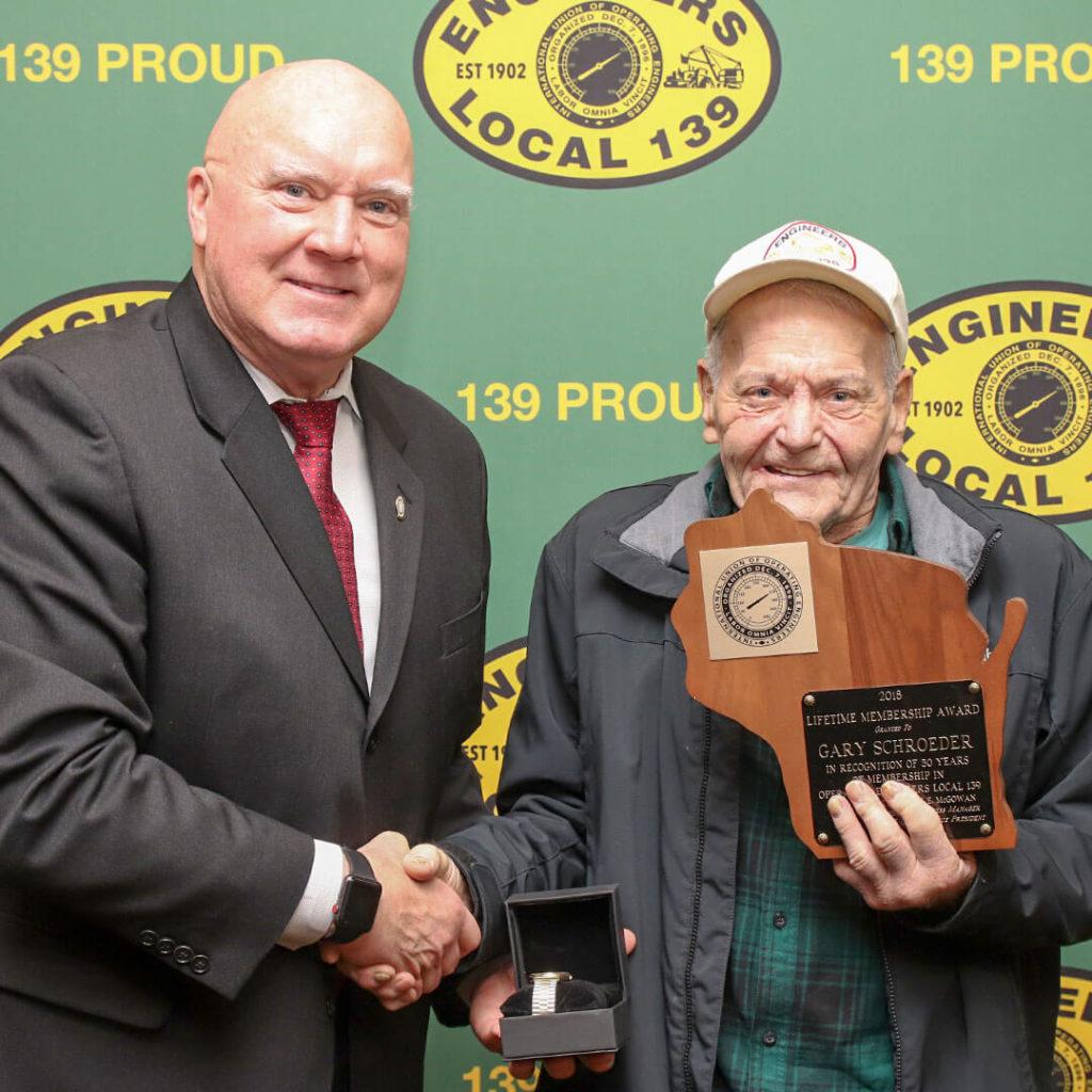 50-Year member Gary Schroeder