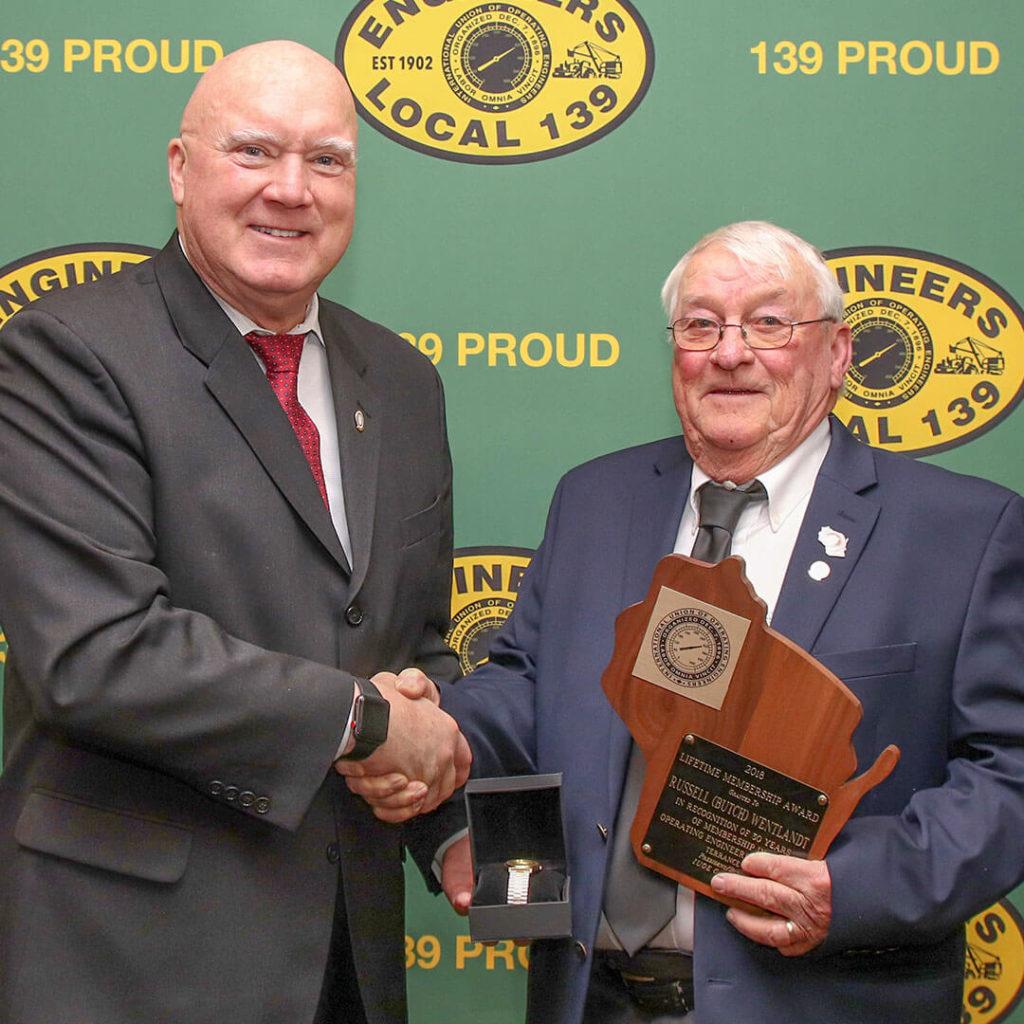 50-Year member Russell (Butch) Wentlandt