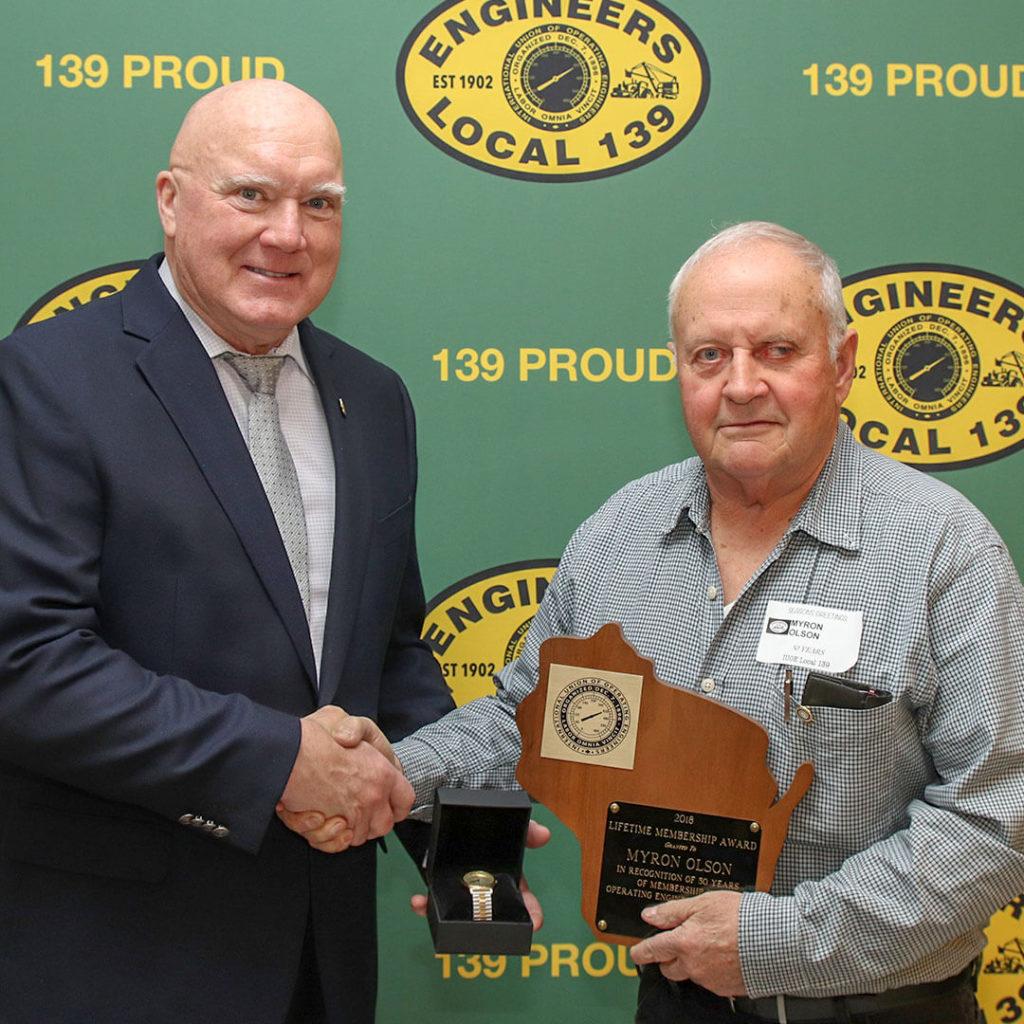 50-Year member Myron Olson