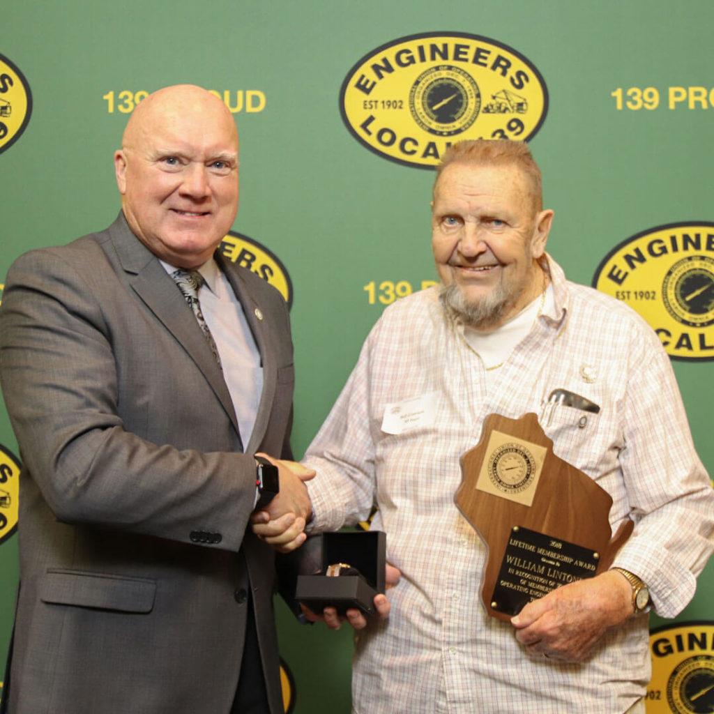 50-Year member Dave Lintonen