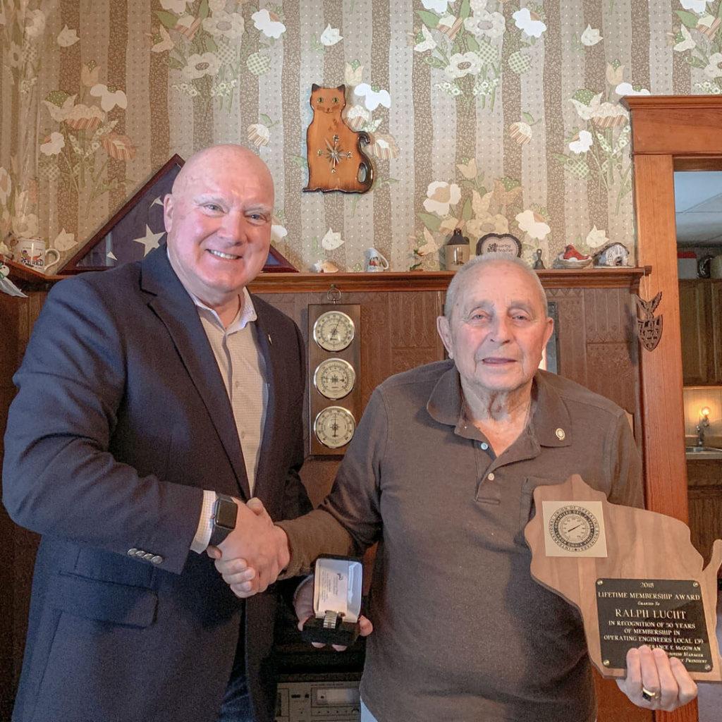 50-Year member Ralph Lucht