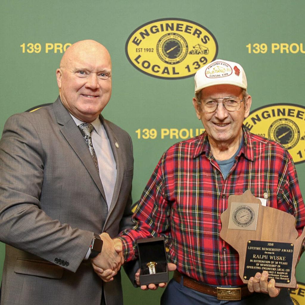 50-Year member Ralph Wuske