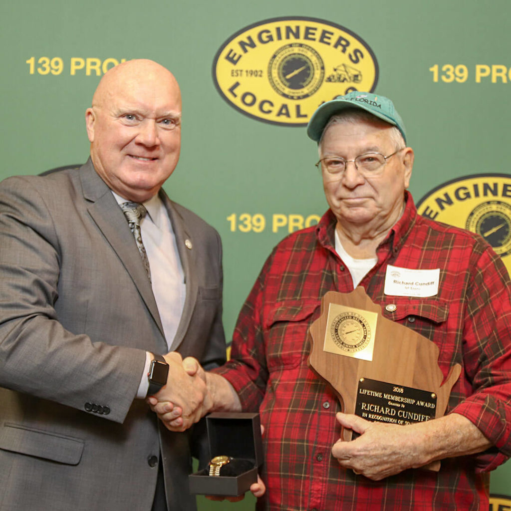 50-Year member Richard Cundiff