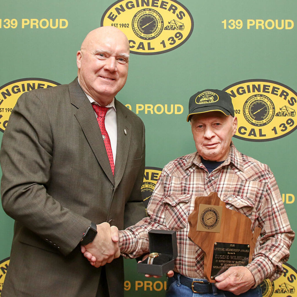 50-Year member Eugene Wilhelm