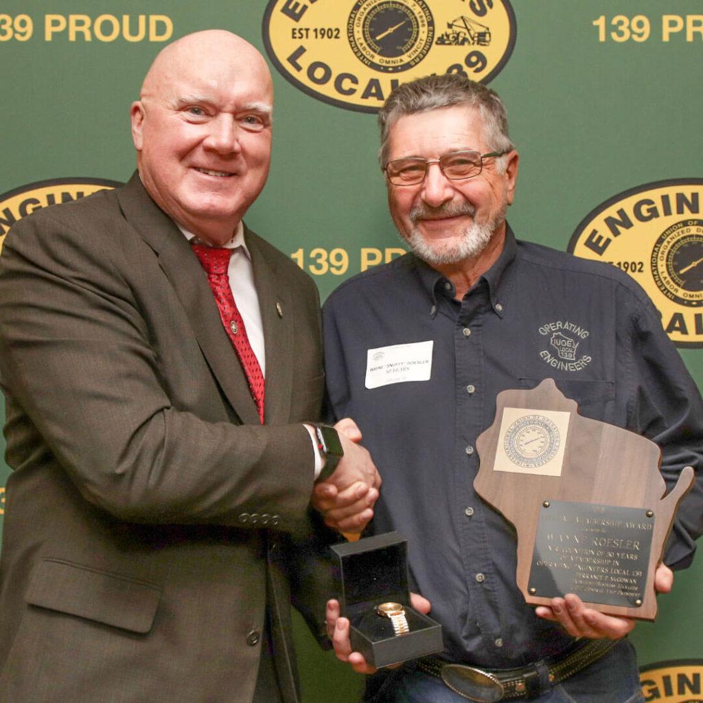 50-Year member Wayne Roesler