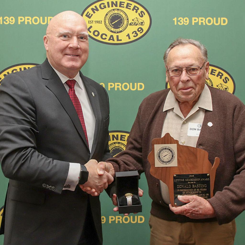 50-Year member Donald Basting