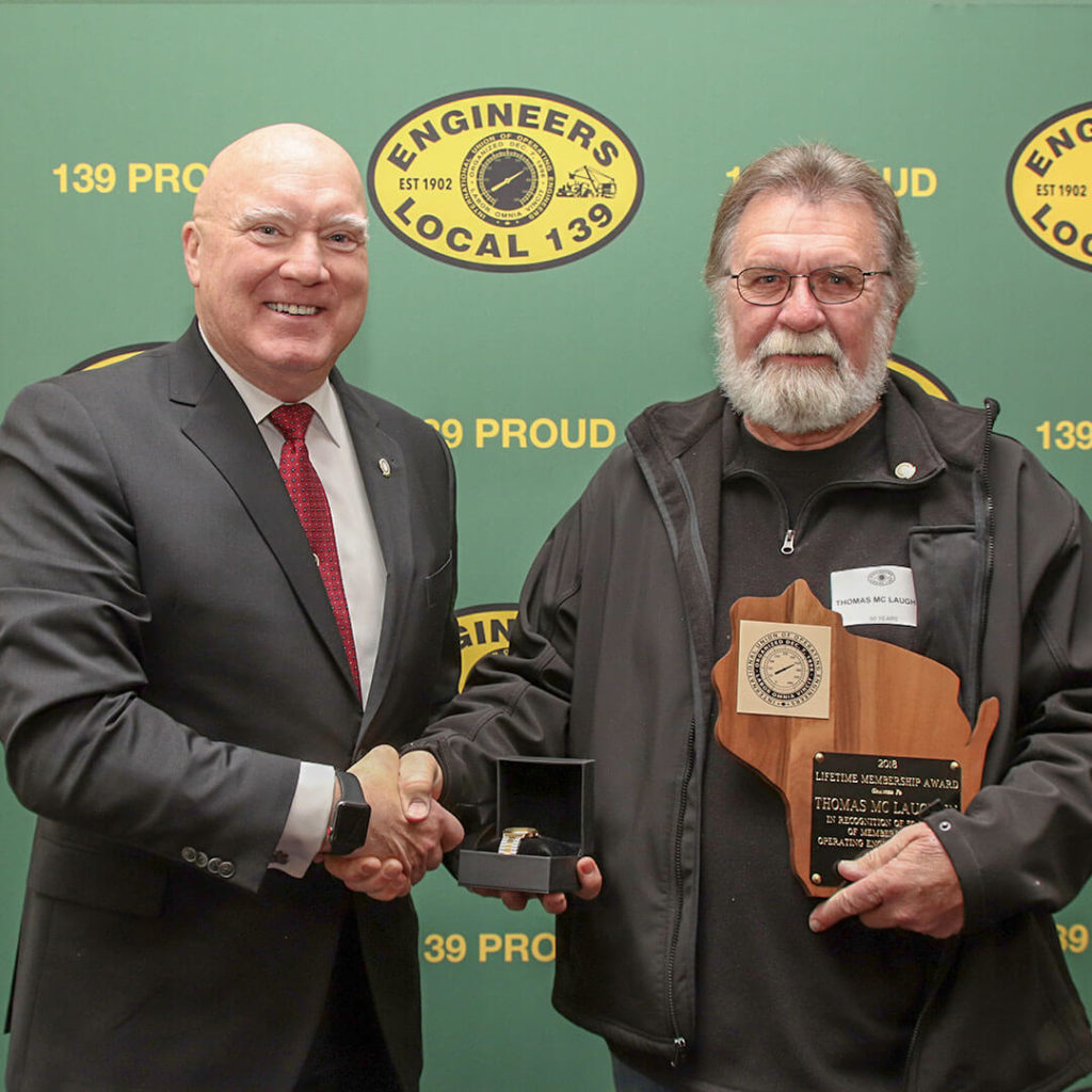 50-Year member Thomas Mc Laughlin