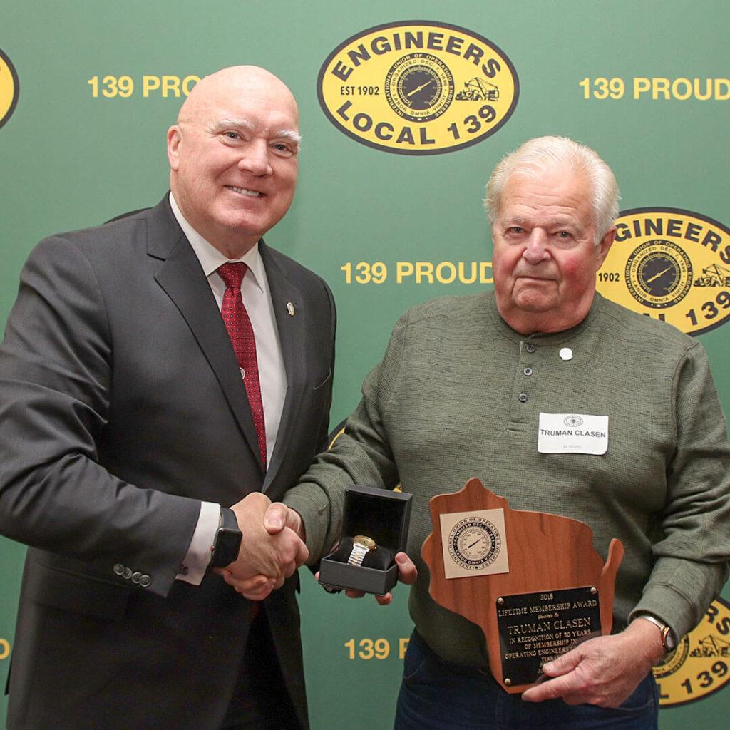 50-Year member Truman Clasen