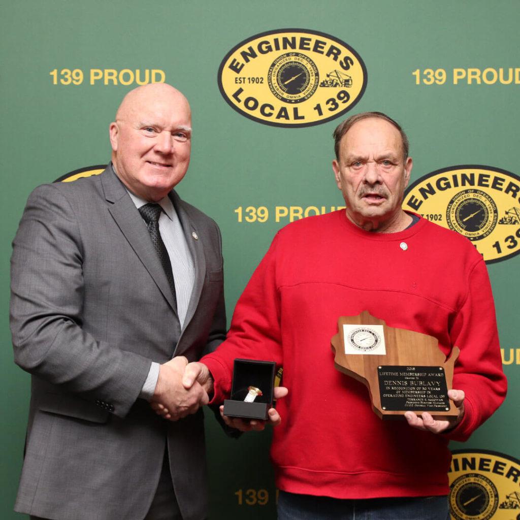 50-Year member Dennis Bublavy