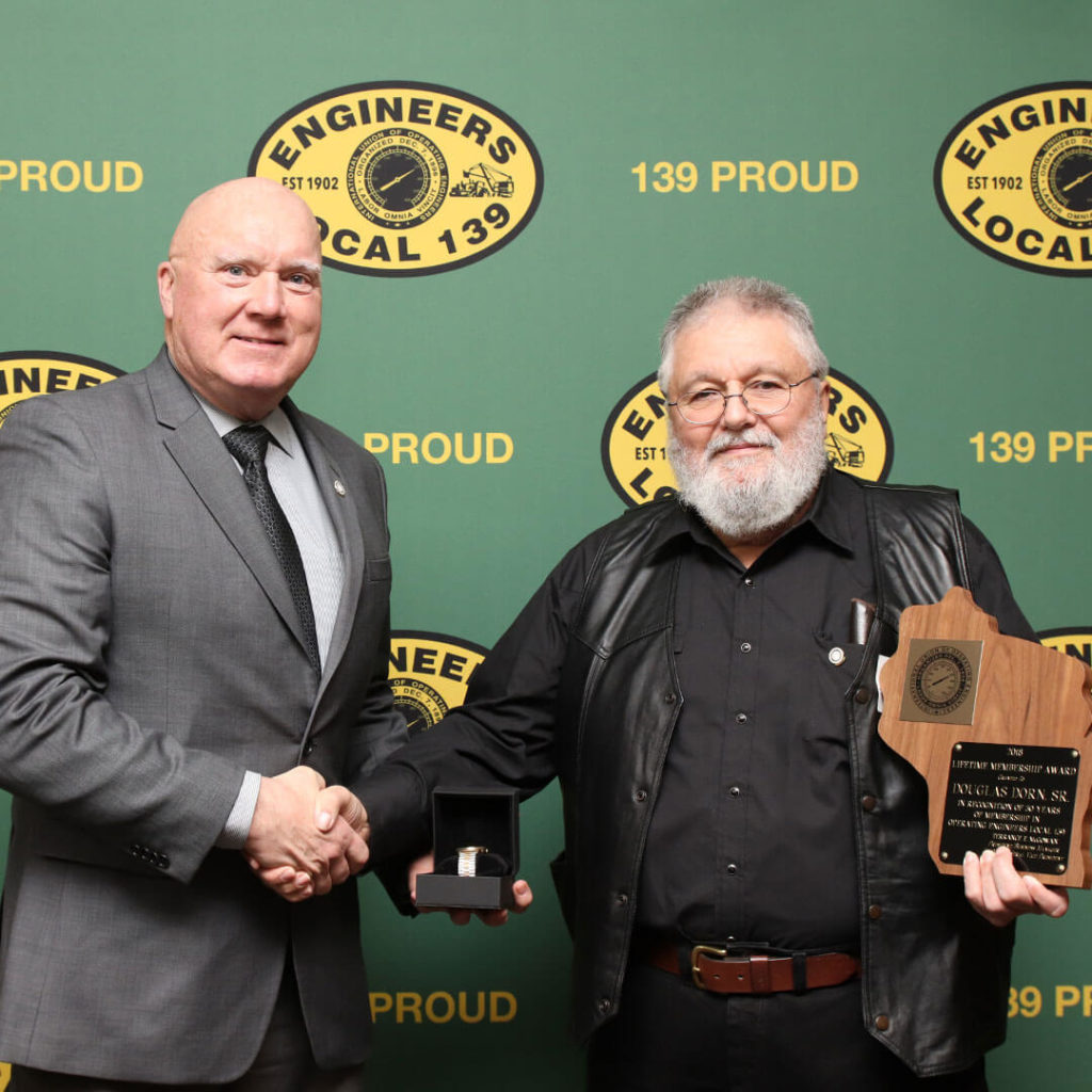 50-Year member Douglas Dorn Sr