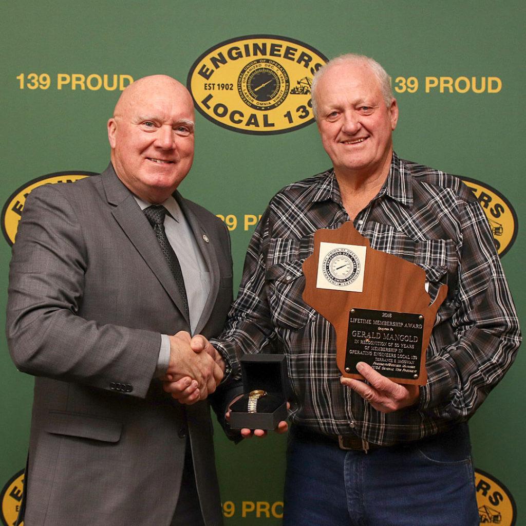 50-Year member Gerald Mangold