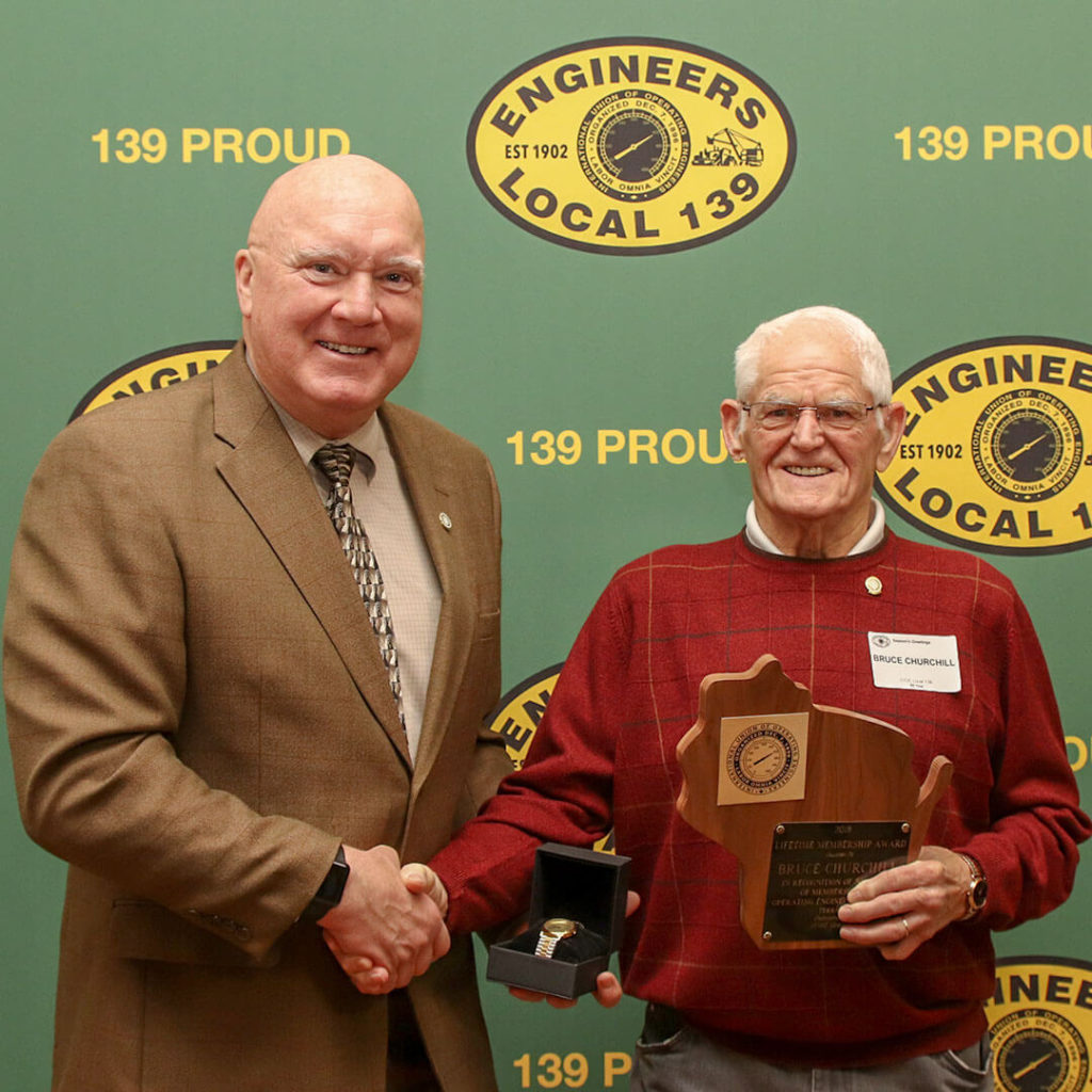 50-Year member Bruce Churchill