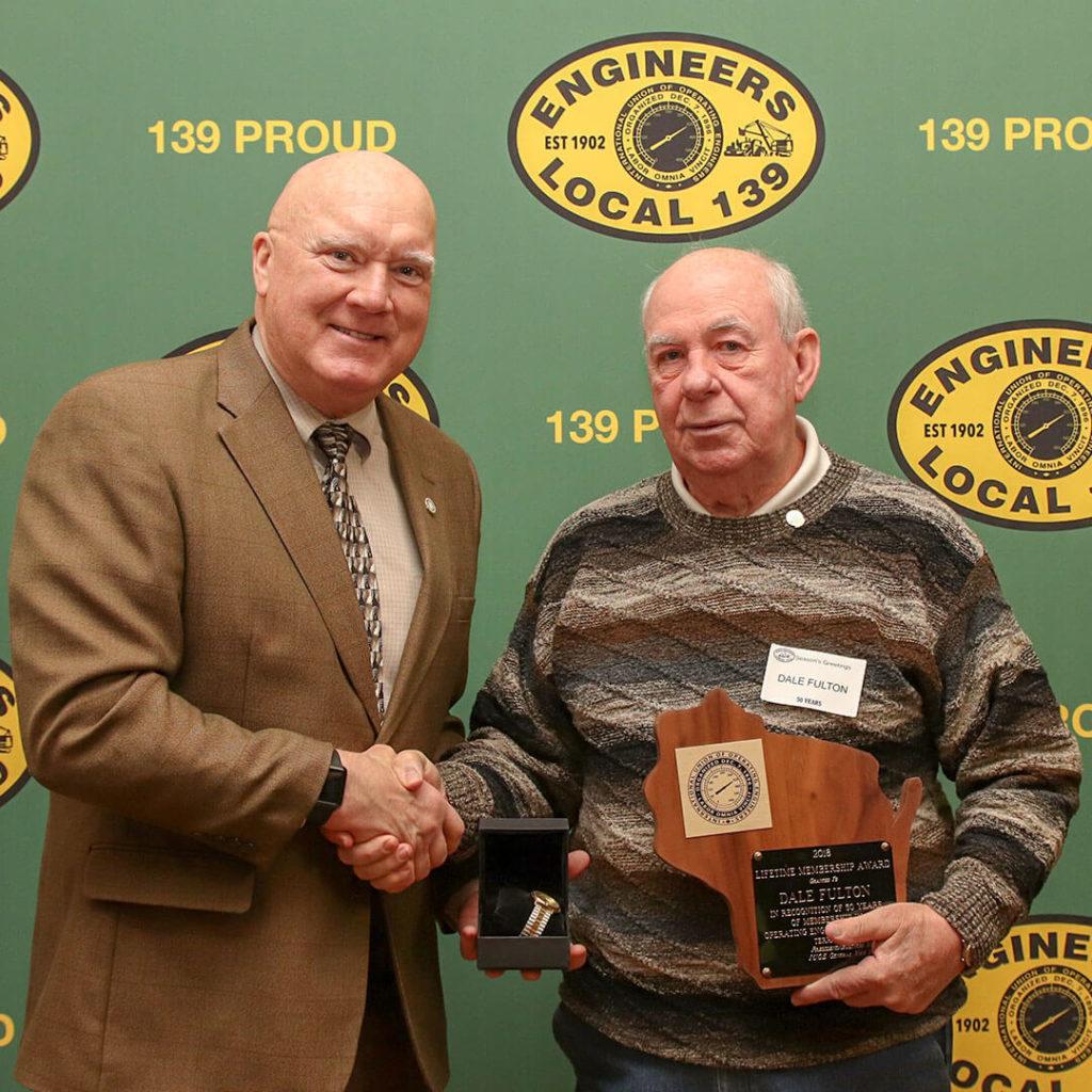 50-Year member Dale Fulton