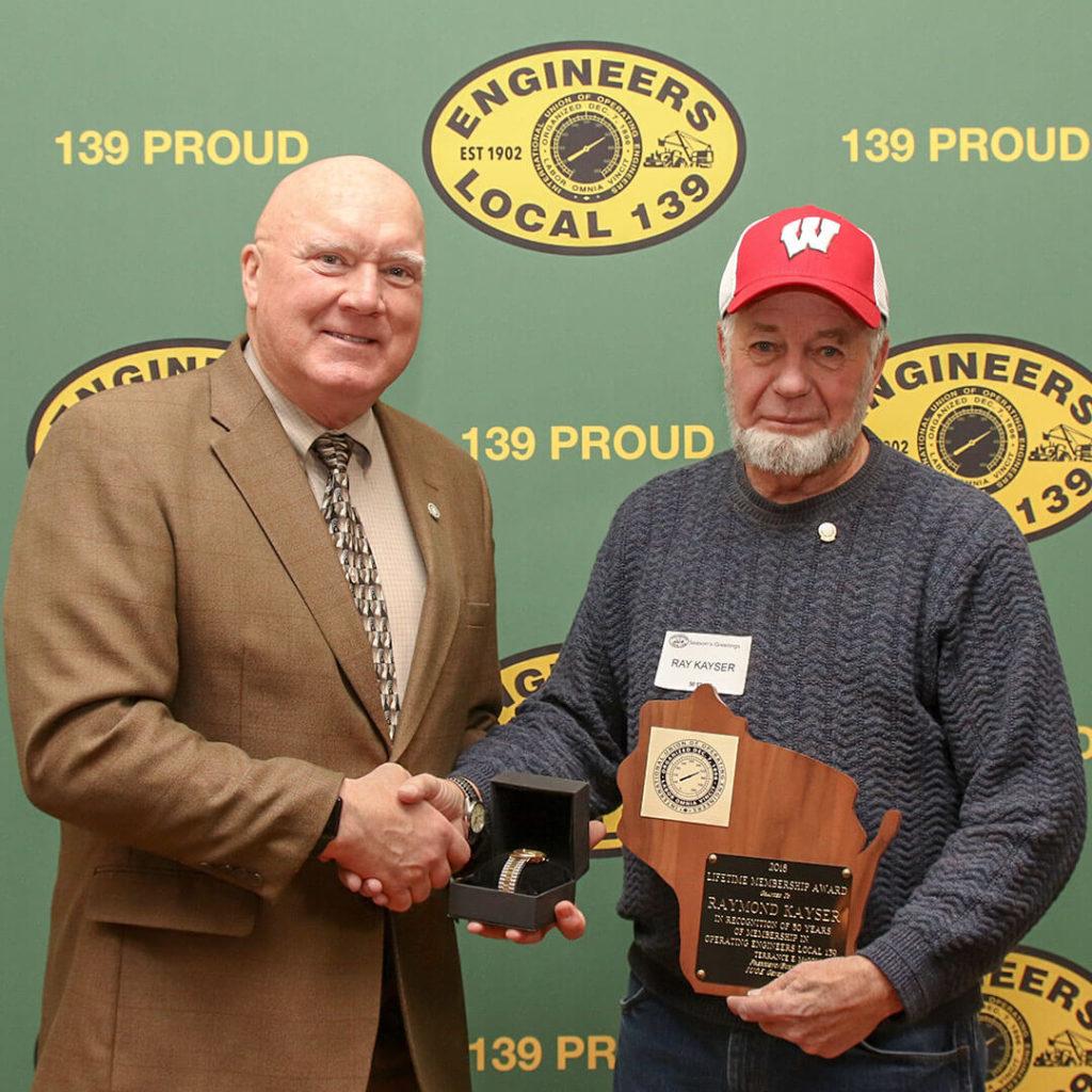 50-Year member Raymond Kayser