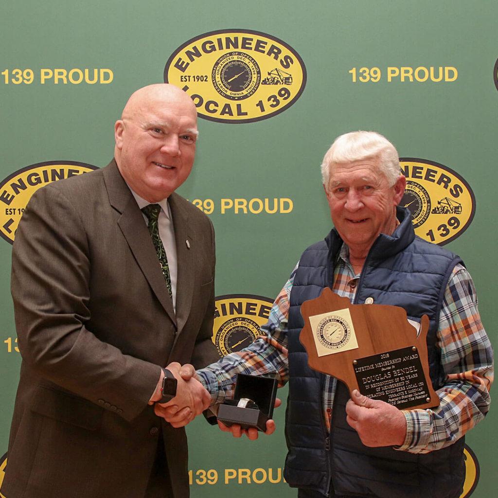 50-Year member Douglas Bendel
