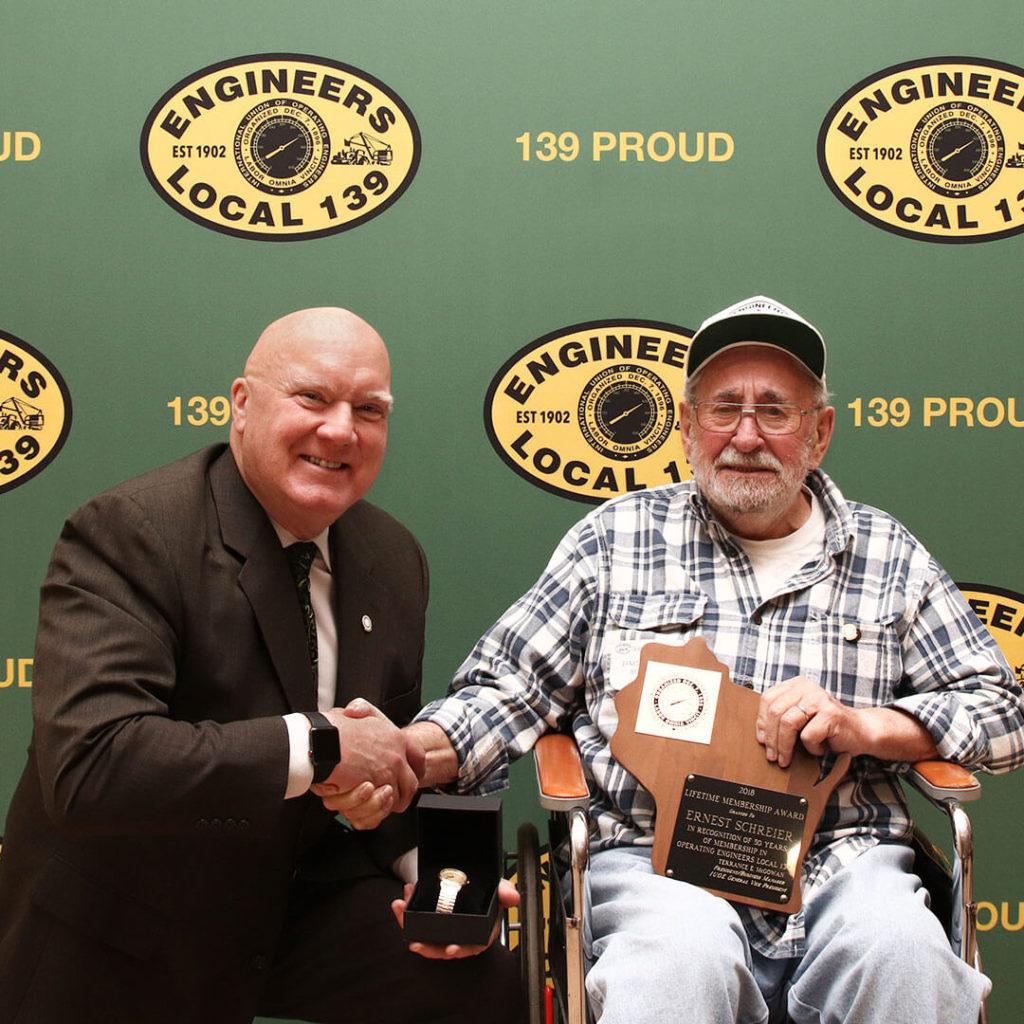 50-Year member Ernest Schreiner