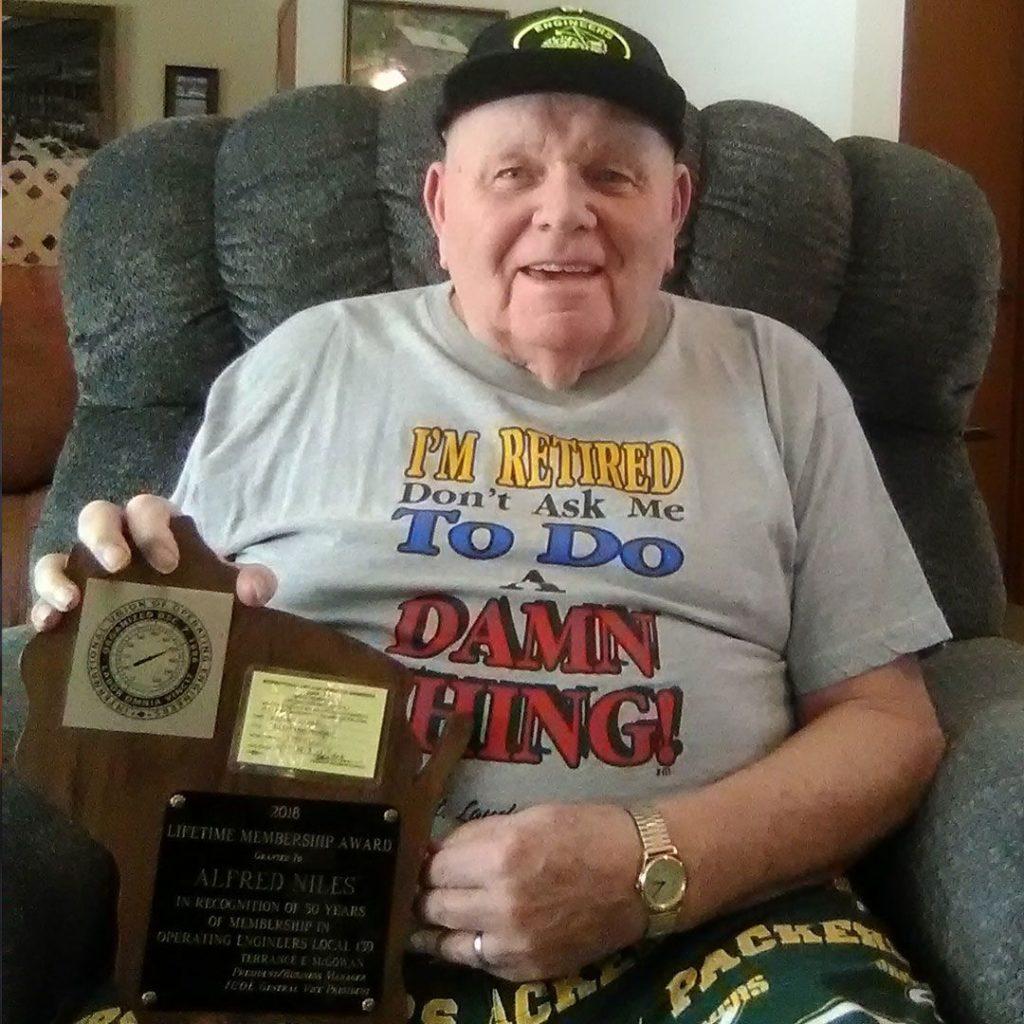 50-Year member Alfred Niles