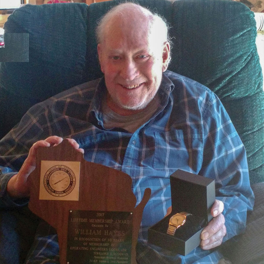 2017 50-Year member William Hayes