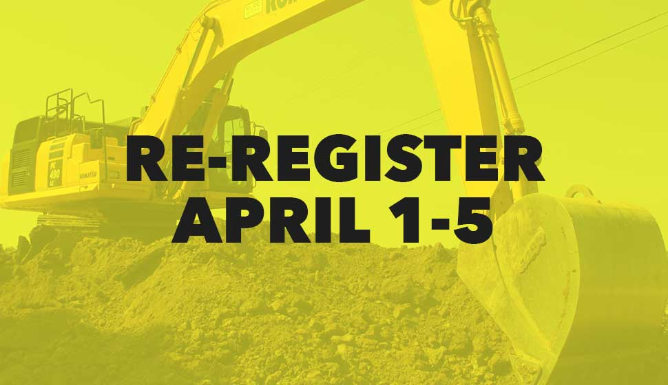 Re-register by April 5th