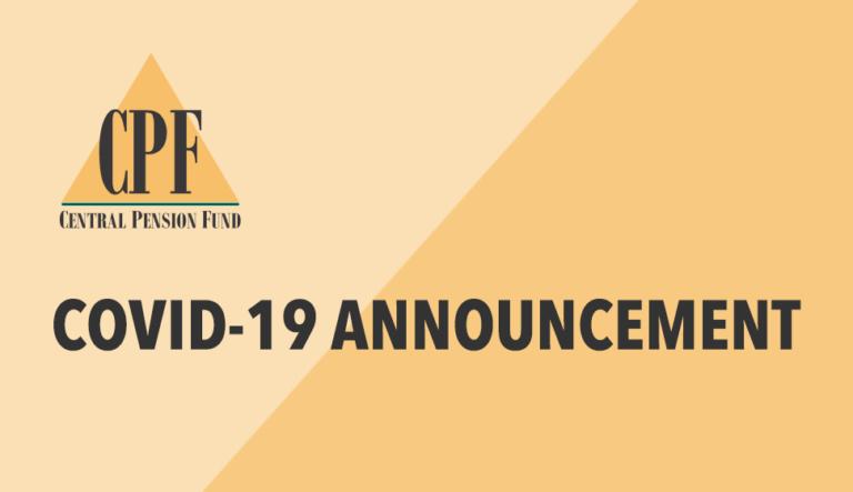 Central Pension Fund Covid-19 Announcement