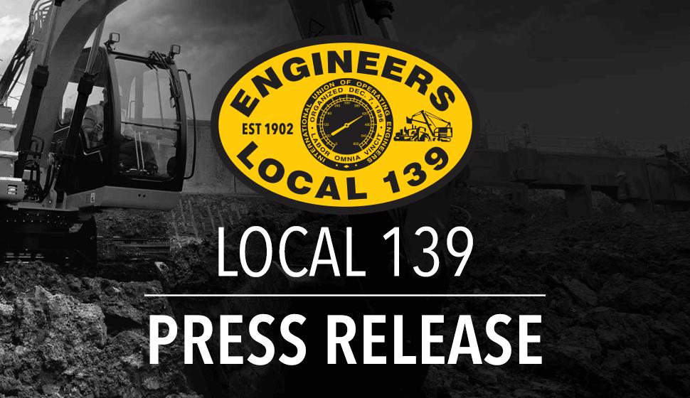Local 139 Press Release