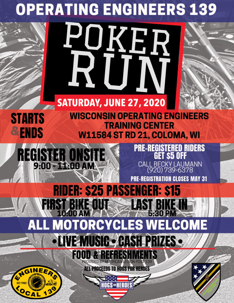 Local 139 Poker Run Flyer