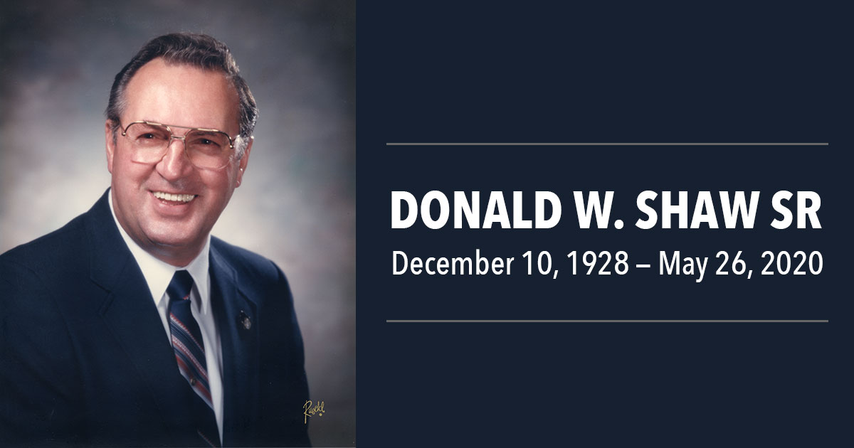 Remembering Donald W Shaw Sr