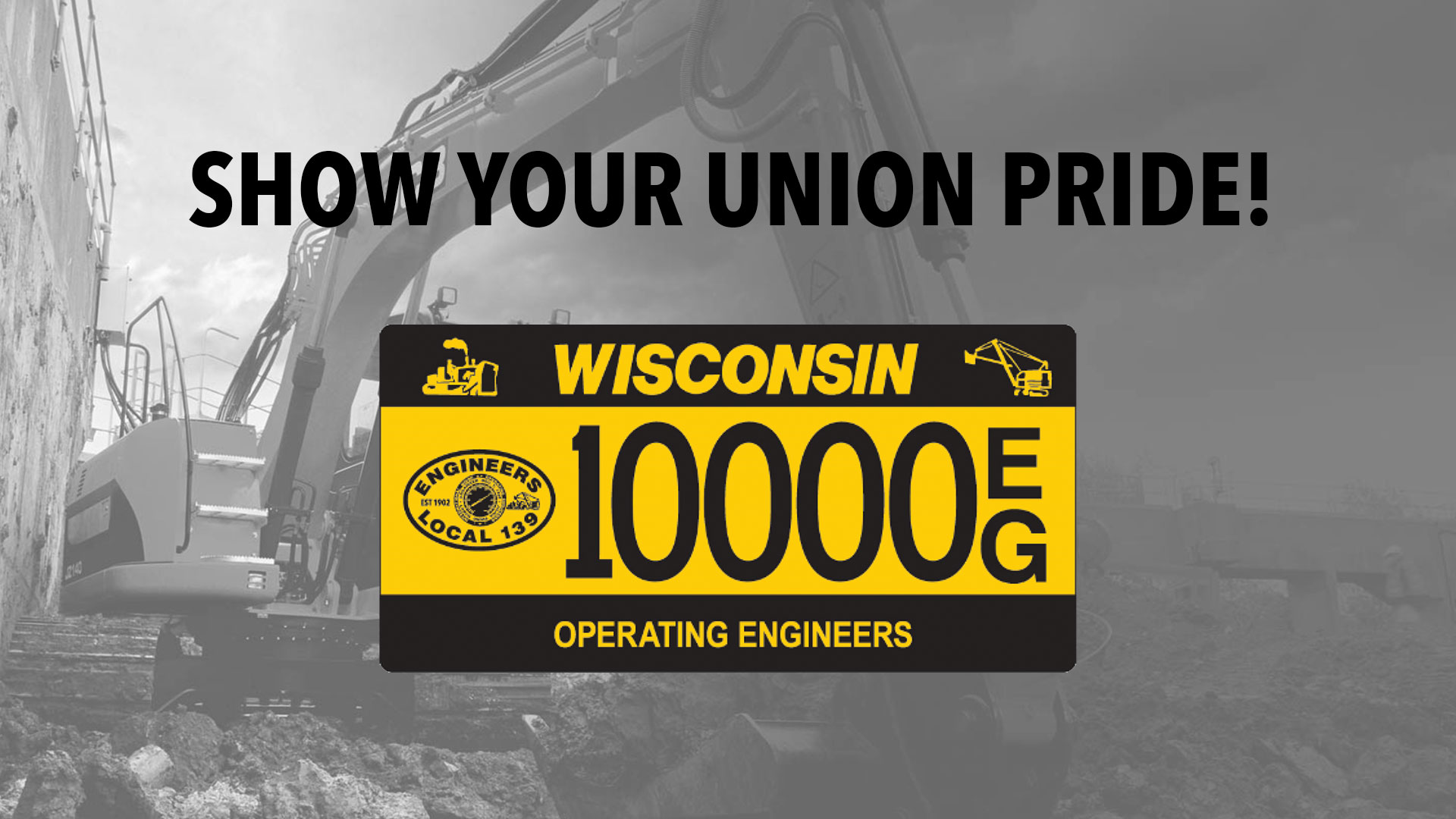 Show your union pride with the available customized license plate.