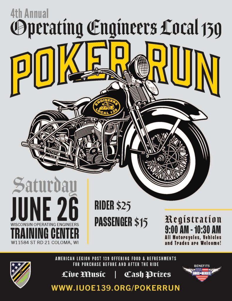 4th Annual Local 139 Poker Run